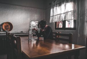 Girl at Table; Depression; Health Collective