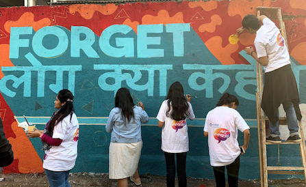 MPower project Street Art with Chal Rang De