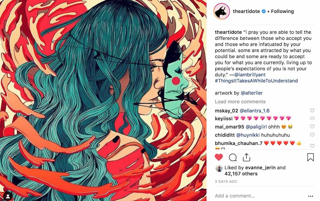 The Artidote on instagram