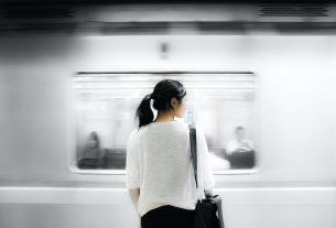 Woman Train Anxious