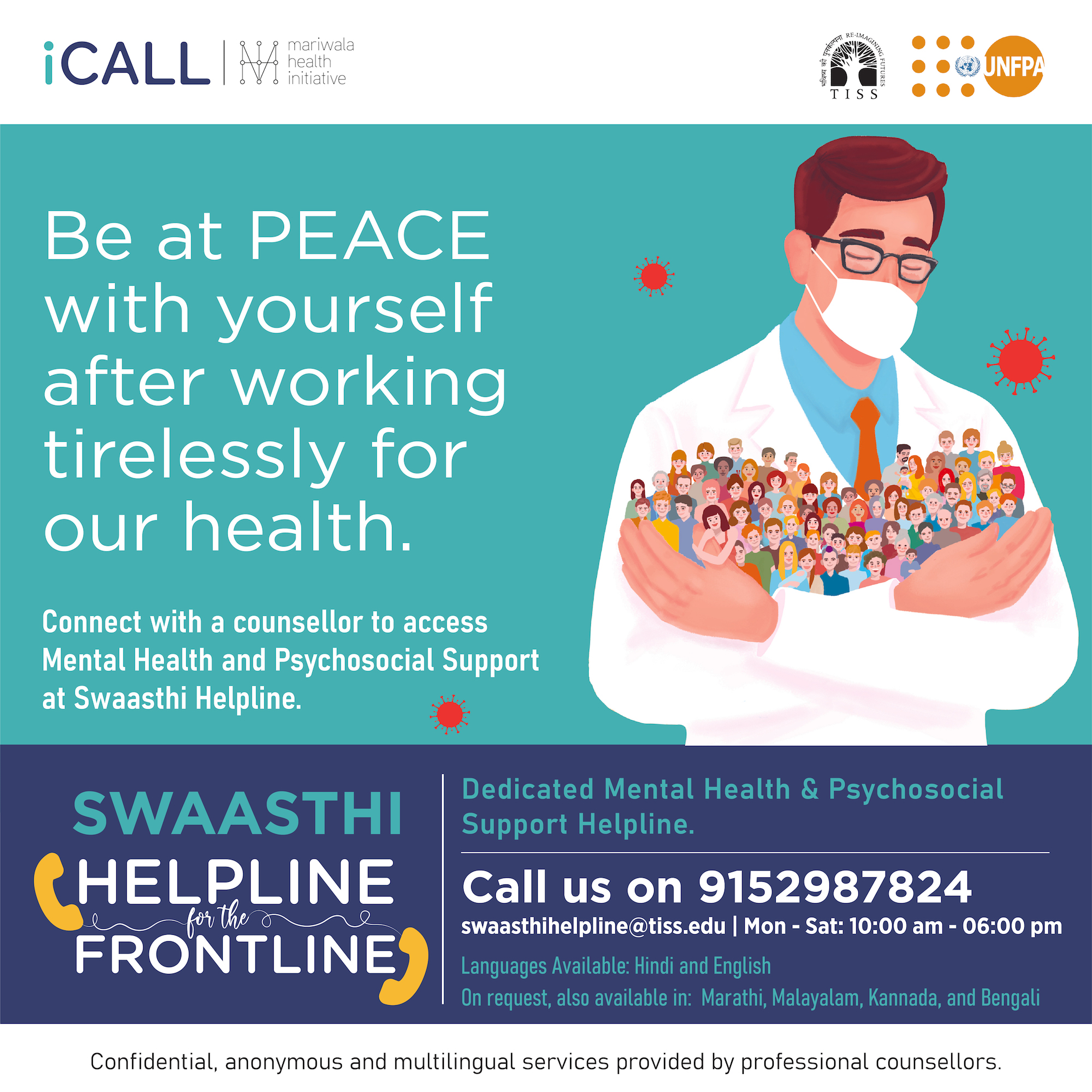 Swaasthi helpline for frontline workers