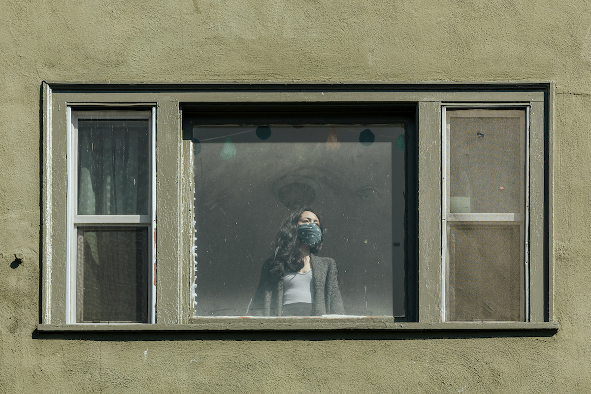 woman at window